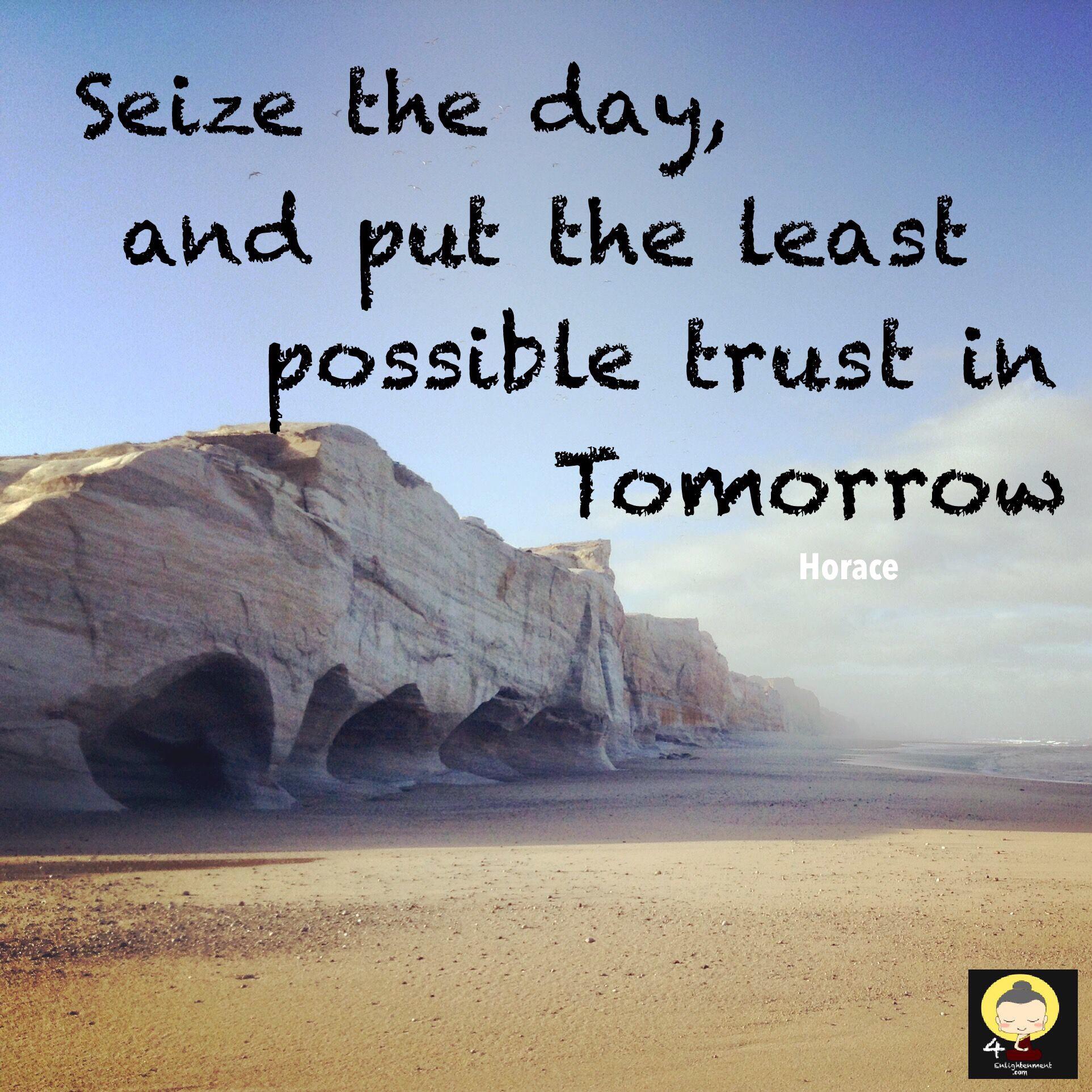 Optimistic quote Horace