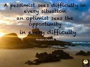 Optimism quote Winston Churchill