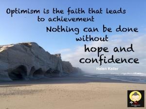 Optimism quote Helen Keller