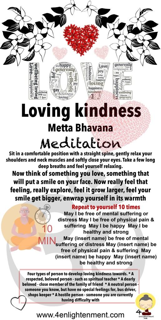 Loving kindness Meditation, mindfulness, spirituality, spiritual, wellbeing, happiness, compassion